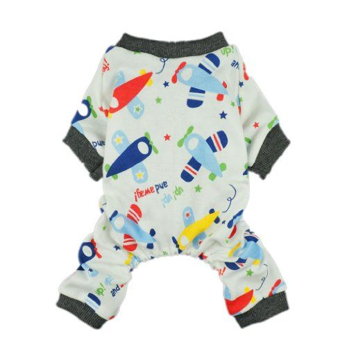 Adorable Soft Planes Dog Pajamas for Pet Cat Dog Pjs Clothes, Medium - http://www.thepuppy.org/adorable-soft-planes-dog-pajamas-for-pet-cat-dog-pjs-clothes-medium/