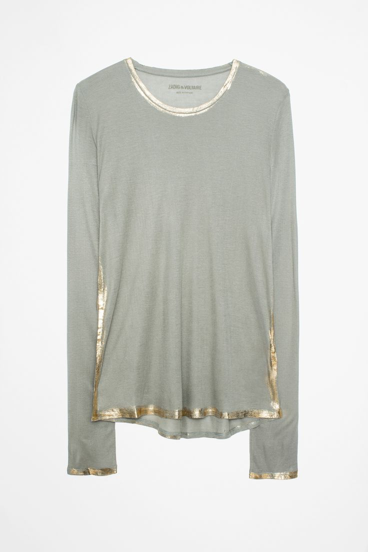 Zadig&Voltaire khaki willy foil woman t-shirt