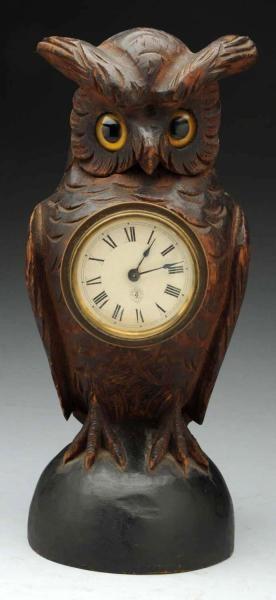 Cookbook-2 Begins. Pip is watching the clock.  /1920's Owl Clock