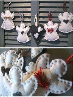 DIY Noël  - Anges en feutrine                                                                                                                                                     Plus