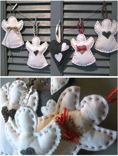 DIY Noël  - Anges en feutrine                                                                                                                                                     Plus