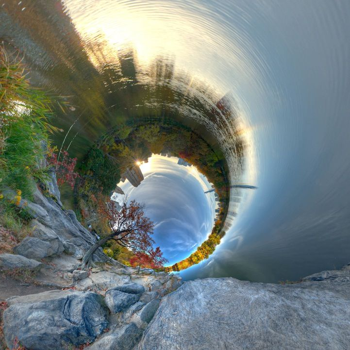 Photographer Randy Scott Slavin creates spherical panoramas that spin the world in all directions