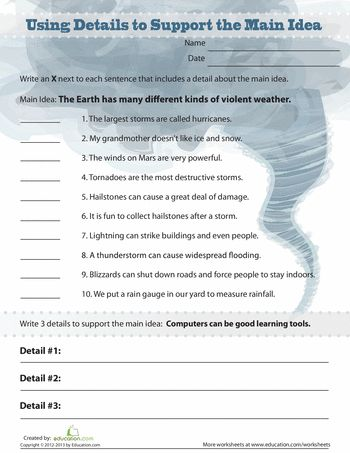 Writing and reading worksheets 5th grade