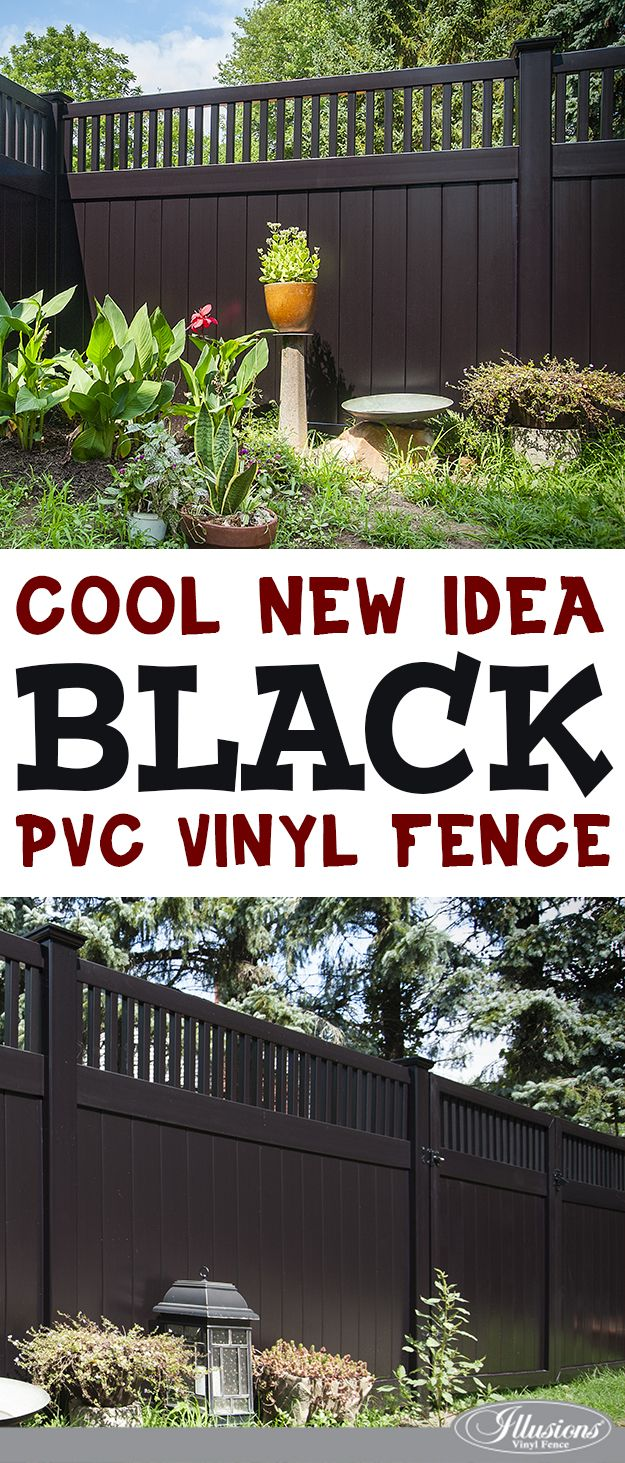 great fence ideas come from the heart black pvc vinyl fencing panels from illusions vinyl