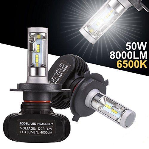 GreenClick 2*H7 Seoul-CSP LED phares Voiture Ampoules,Etanche IP65, 40W ,8000LM,Car Healight LED Véhicule Blanc Pur 6500K Tout-en-un kit de…
