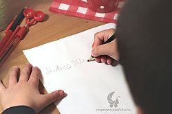 Karácsonyi gyerekfotó témák, levél a Télapónak.