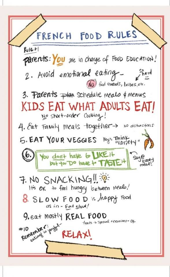 French food rules for kids :)))