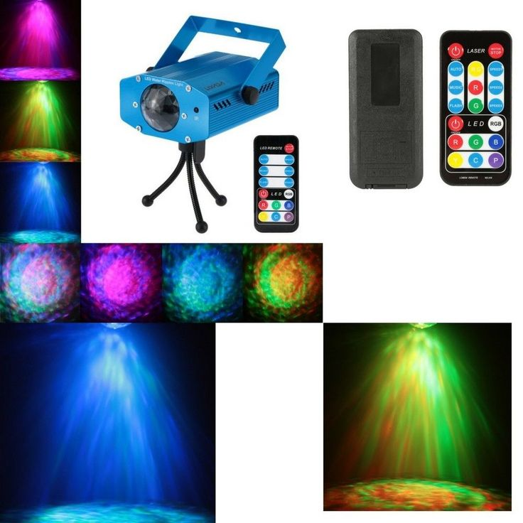 Lamp With Controller Disco Projector LED Laser Lights Sound Control Party Home
