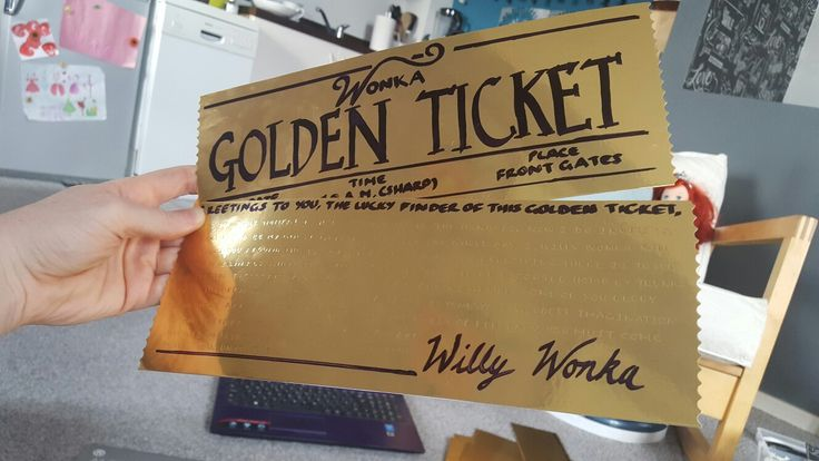 Ready for Roald Dahl's birthday tomorrow... Willy Wonka's Golden Tickets