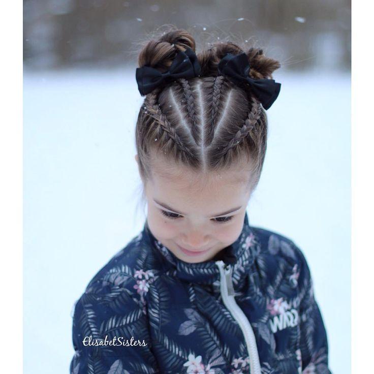 Dutch braids and buns inspired by @prettylittlebraids #dutchbraid #messybun ❄️ Hollantilaisia lettejä ja nutturoita ❄️