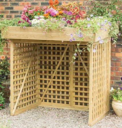 Attractive And Practical Binstore Without Trellis Doors - Ideal For Anyone Looking To Hideaway Those Unsightly Bins - Whilst Also Being Perfect For A Keen Gardener Looking To Maximise Their Space: Amazon.co.uk: Garden & Outdoors