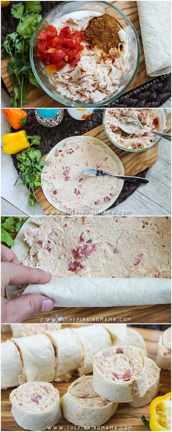 Creamy Taco Roll Ups recipe - This makes a great appetizer idea and is ONLY 5…