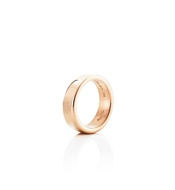Efva Attling - Irregular - $2,045. Ring in gold or white gold that is wider on one side than the other.