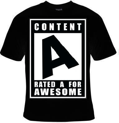 Unisex T-Shirts: content A for awesome tee T shirt cool humor