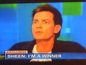 """29 of the best Charlie Sheen Quotes- #1 """"I have a disease? Bullshit. I cured it with my brain."""""""