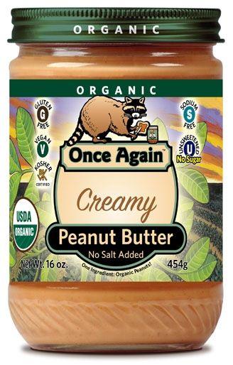 Creamy, Unsalted Organic Peanut Butter - Peanuts - Nuts.com