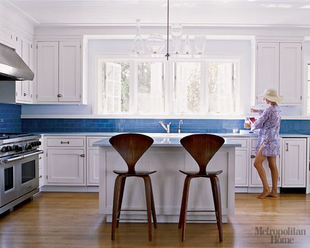 cobalt blue backsplash spaces kitchens pinterest cobalt blue