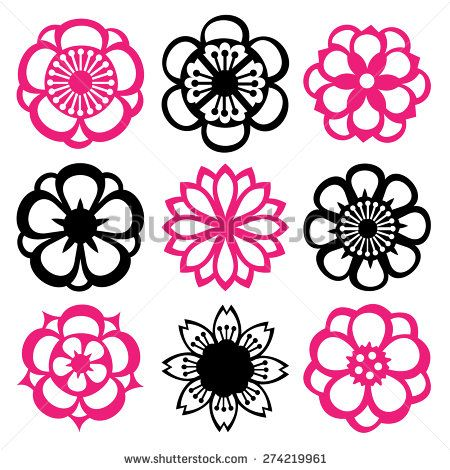 japanese flower logo - Google Search