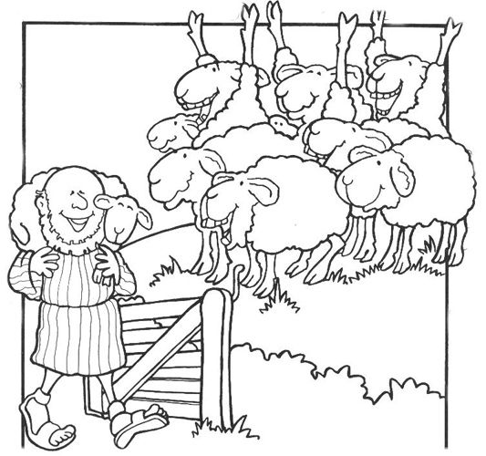 lost sheep parable coloring pages - photo#14