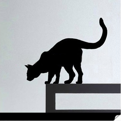Wary Cat Wall Decal $9.00
