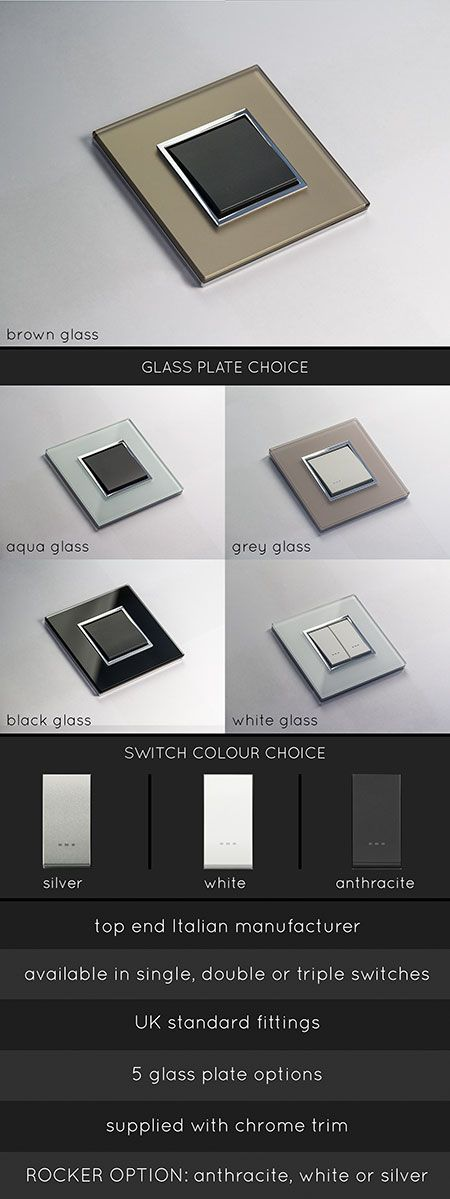 Luxury Glass Light Switches (123R)
