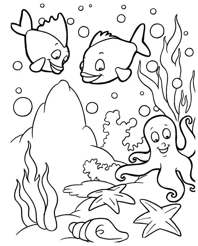 Ocean Coloring Pages Ocean Coloring Pages Fish Coloring Page