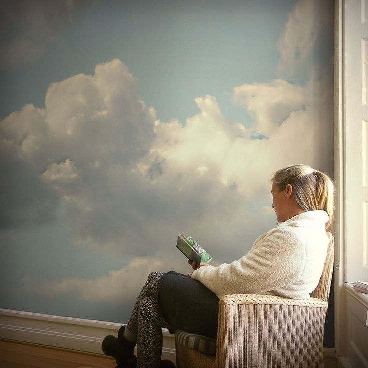 wandgestaltung fototapete mit wolken fototapeten. Black Bedroom Furniture Sets. Home Design Ideas