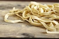 "rustic sourdough noodles for using up that ""cup of starter"" that you need to decant out..."