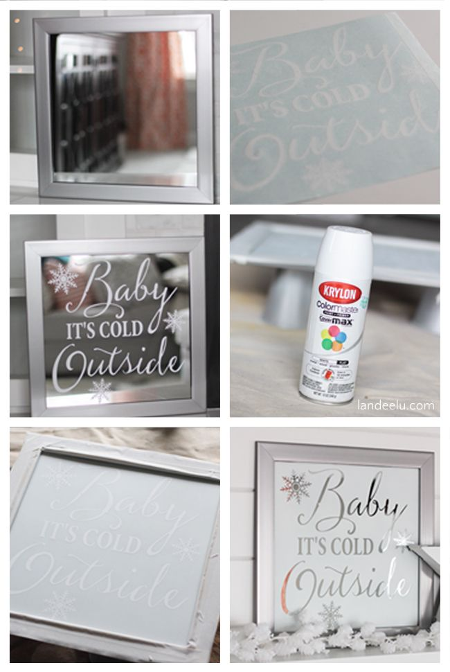 EASY DIY Mirror Art Tutorial