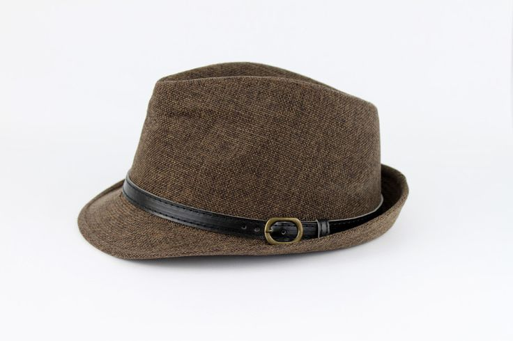 Brooklyn Hat | Effortless chocolate tweed fedora perfect for a laid back day with your friends. www.mooreaseal.com