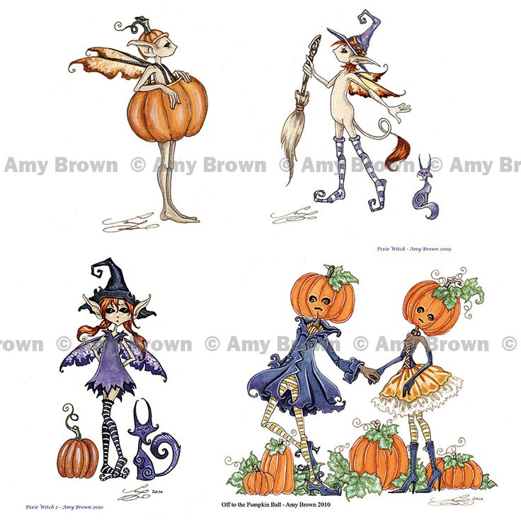 Amy Brown: Fairy Art - The Official Gallery - Halloween Mini Prints