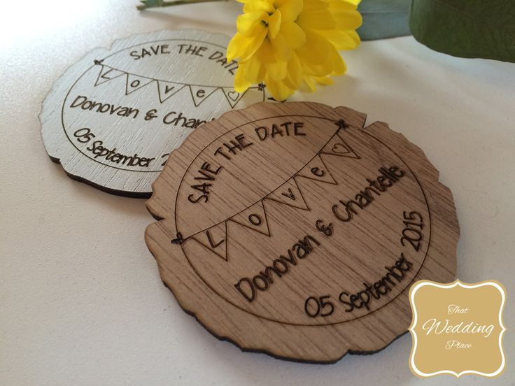 Wedding Save The Date - Bunting