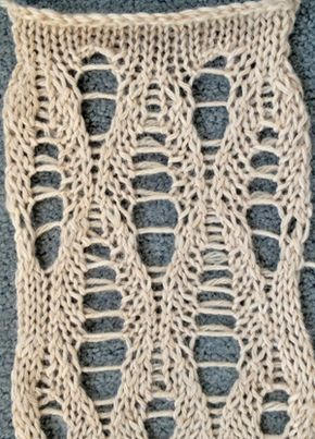 Ladder lace stitch pattern
