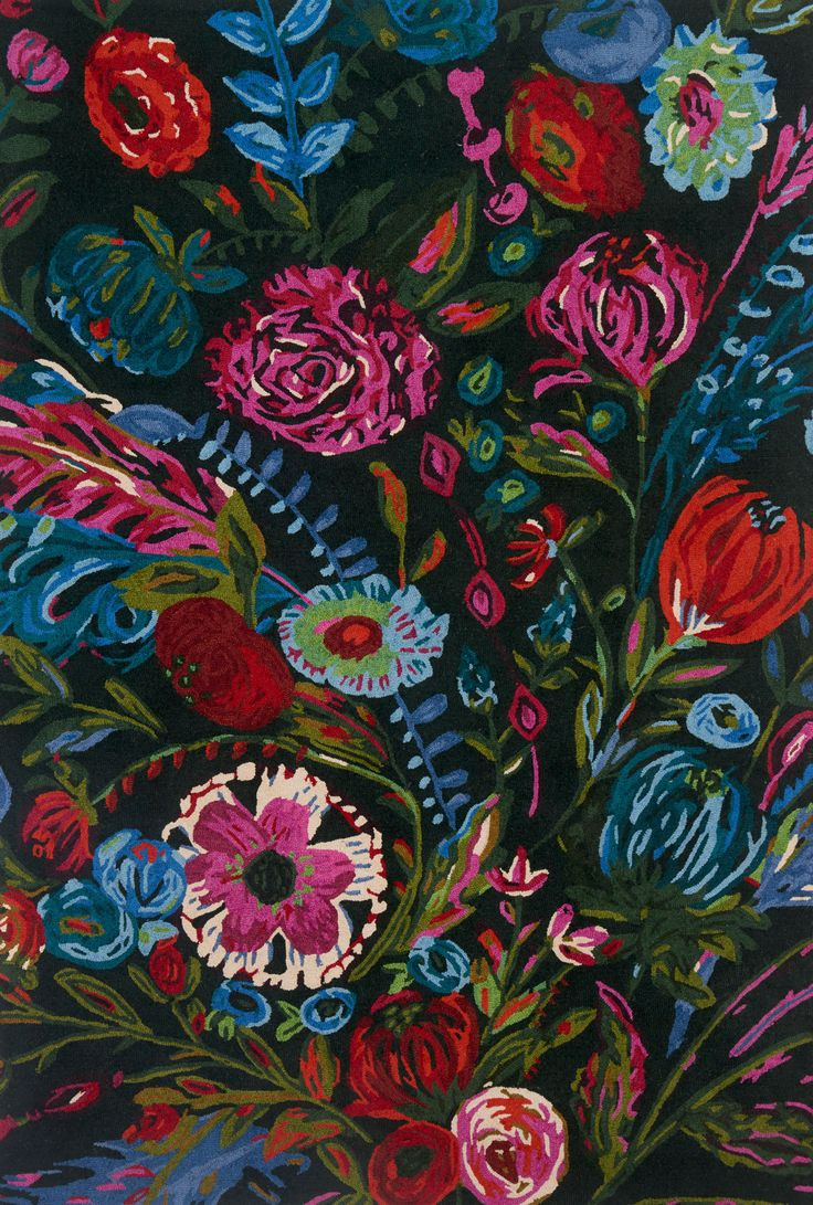floral tags flower rug shaped rugs area tag foot bright black round of full size pink