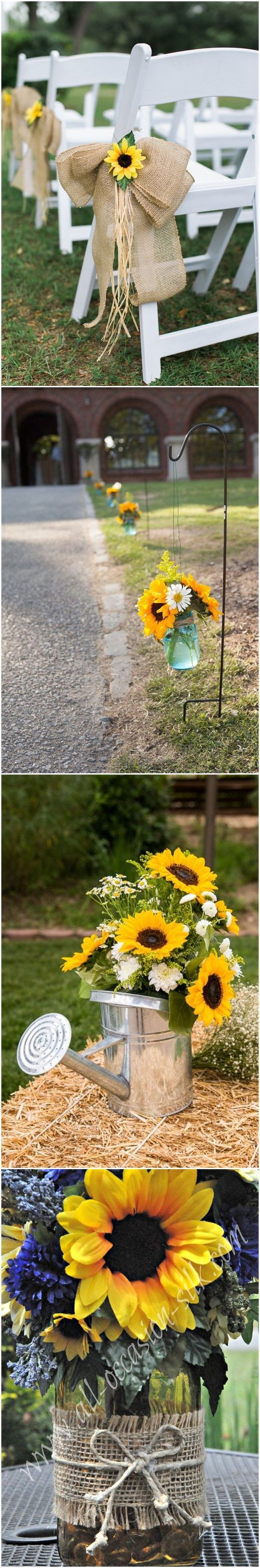 Rustic Weddings » 23 Bright Sunflower Wedding Decoration Ideas For Your Rustic …