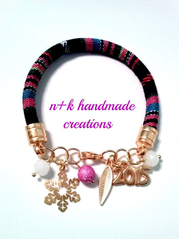 Handmade Christmas ethnic bracelet for 2015 by thenkcreations