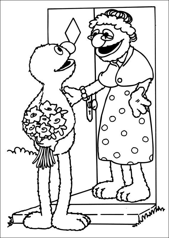 sesame street coloring pages for kids 56