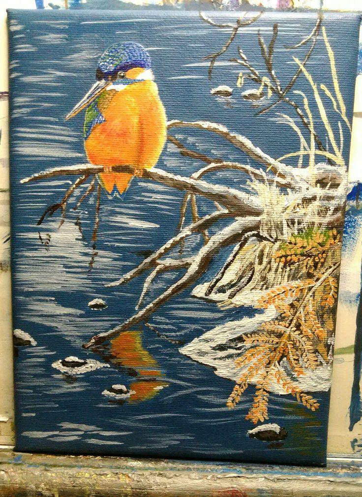 Nr. 28. Kingfisher Ca. 20x30 cm.