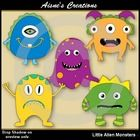 Whether you need some aliens or monsters this pack contains 5 Alien Monsters with matching blacklines.  TOU 1. You may not sell, distribute, trade ...