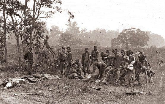 Battle of Antietam Burial Crew 1862