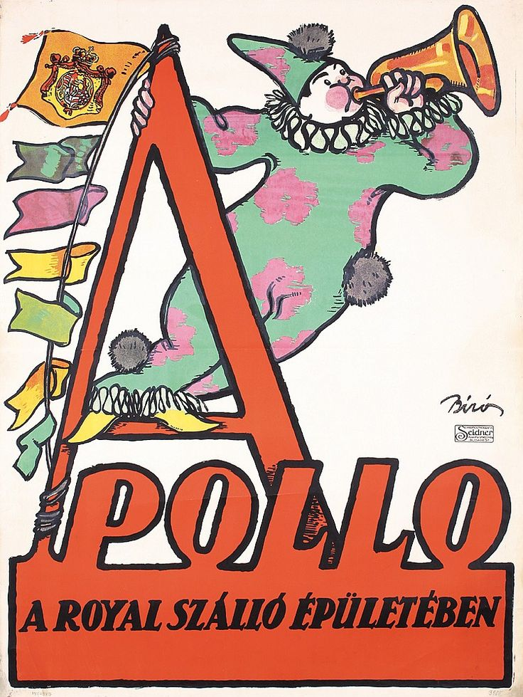 RARE Original 1910s MIHALY BIRO Apollo Theater Poster
