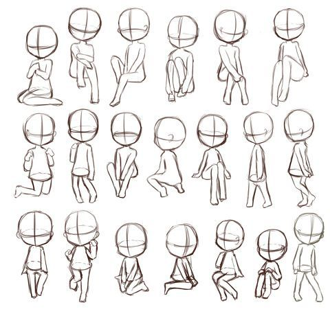 chibi drawing references - Buscar con Google                                                                                                                                                                                 More