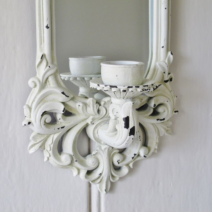 Wall Candle Sconce Pinterest : Ornate mirrored candle wall sconce from blissandbloom.co.uk Candles and Candle Holders ...