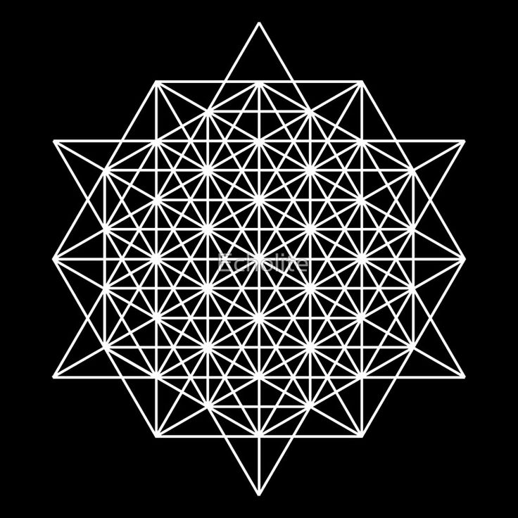 "64 star tetrahedron sacred geometry "" Art Prints by Echolite ..."