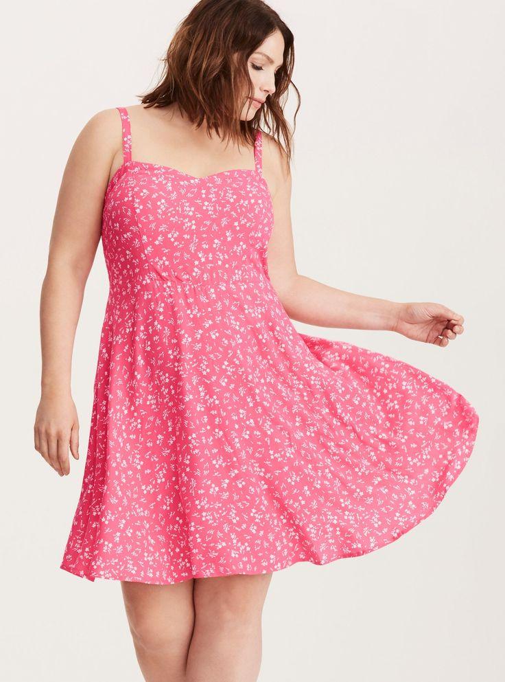 Floral Print Challis Tank Dress/ Plus Size Clothing / TORRID