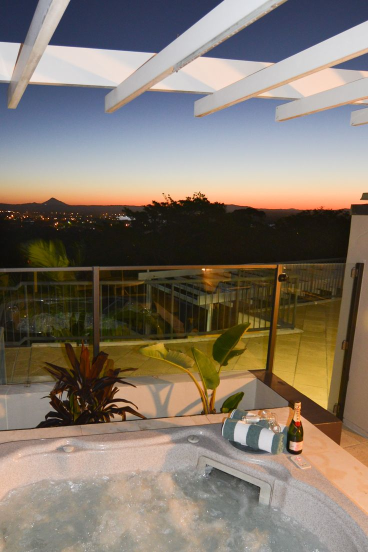 Rooftop terraces with Spas @ Noosa Blue