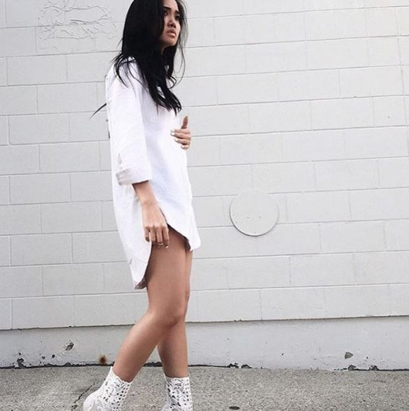 Babe @nguyen1q // Wearing our Abby Shirt Dress