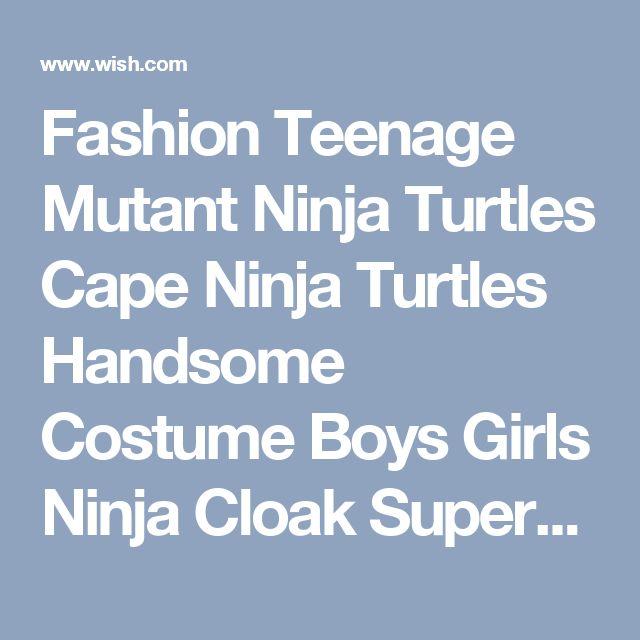 Fashion Teenage Mutant Ninja Turtles Cape Ninja Turtles Handsome Costume Boys Girls Ninja Cloak Superhero Capes And Masks Kid Children's Cosplay Clothing Accessories