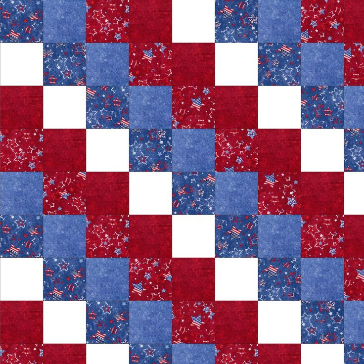 Simple Quilts Templates Quilt Kit : Americana Patchwork Beginner Quilt Kit Per-Cut Quilting Pinterest Beautiful, Patterns and ...