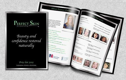 Brochure design for Perfect Skin